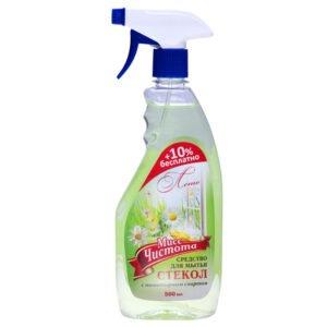 Моющее средство для стекол Мисс Чистота «Лето»
